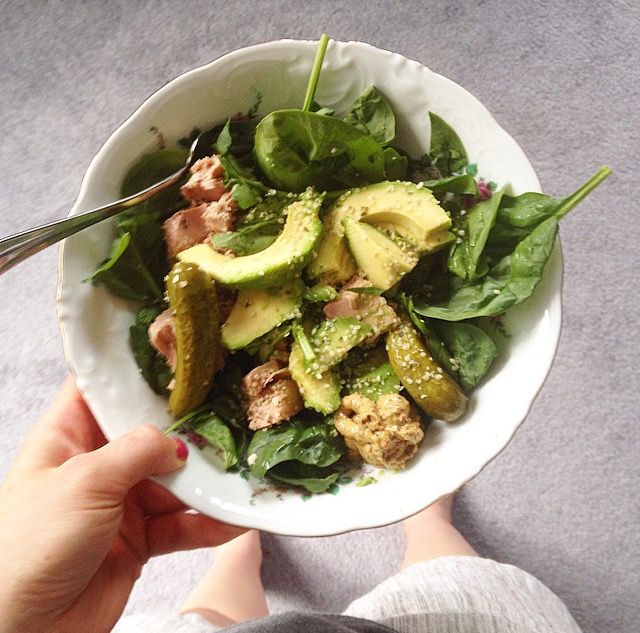 Salad Spinach with Avocado
