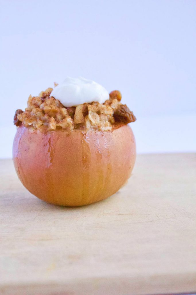 Slow Cooker Baked Apple Oatmeal Cups -- A healthy breakfast recipe that is good enough for dessert! No refined sugar | vegan | gluten free | @sinfulnutrition
