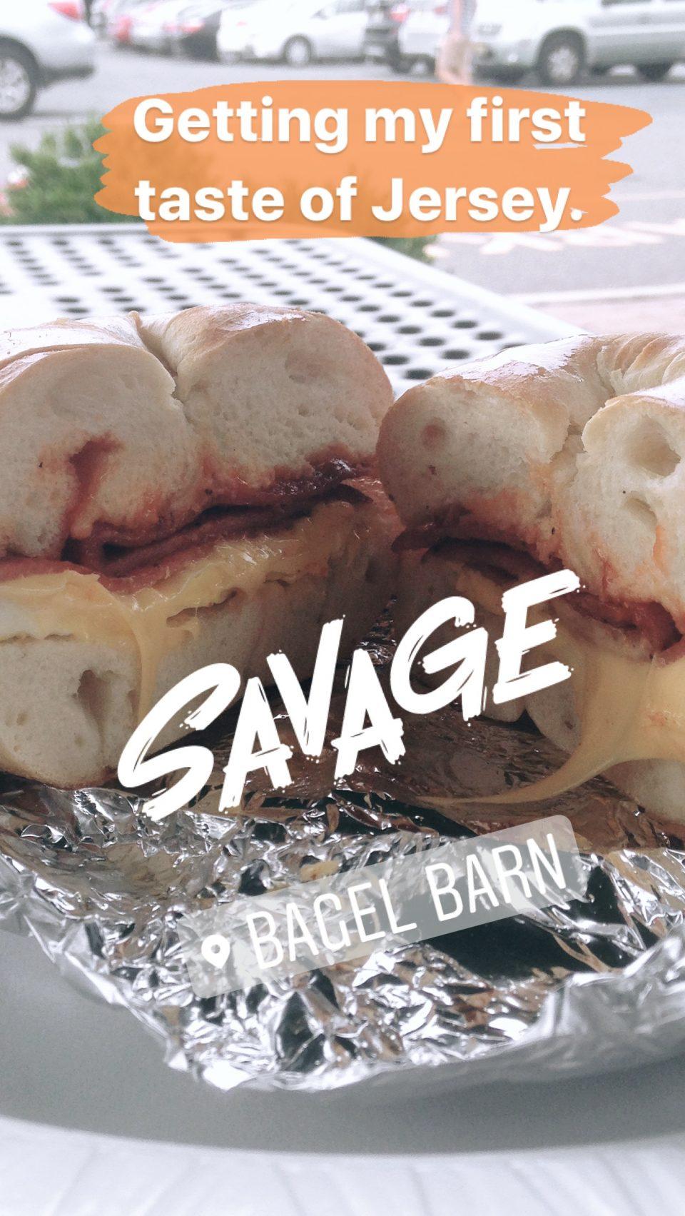Taylor Ham Bagel Sandwich