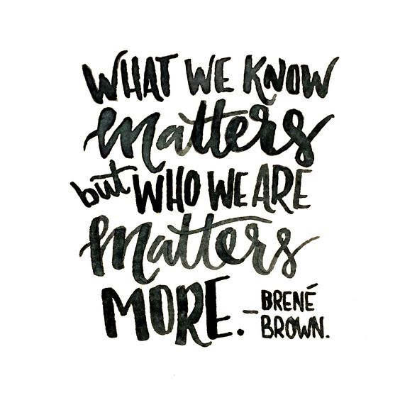 Brene Brown Who We Are Quote