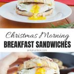 Easy Christmas Breakfast Sandwich Recipe Collage with Text Overlay