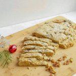 Easy Christmas Stollen Recipe Cut on Board