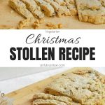 Easy Christmas Stollen Recipe Collage with Text Overlay