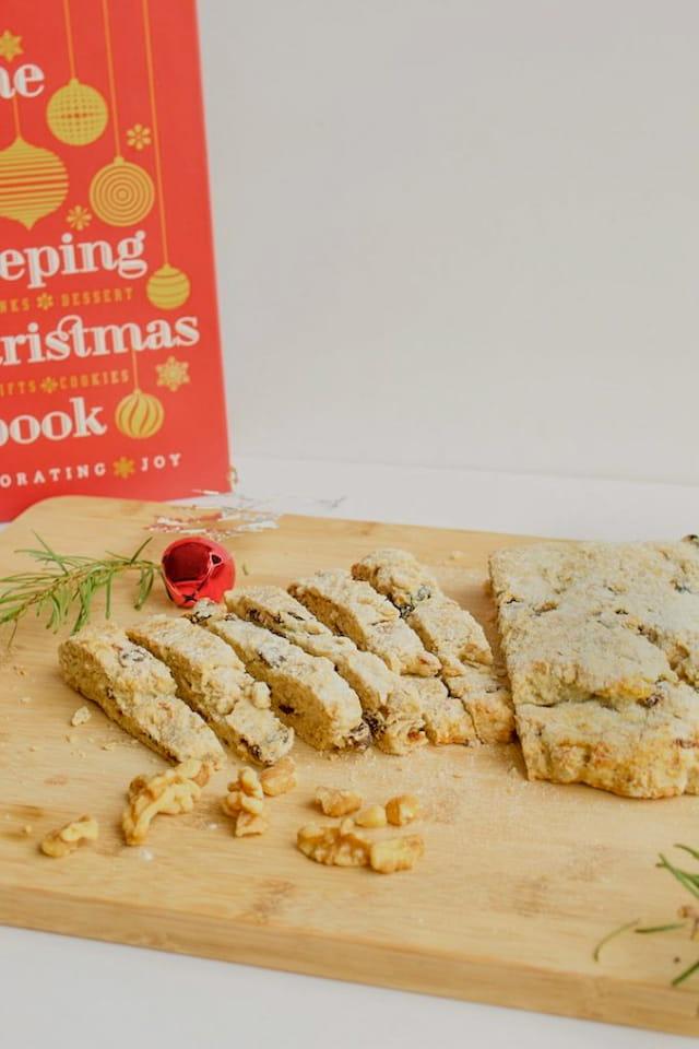 Christmas Stollen Recipe on Cutting Board