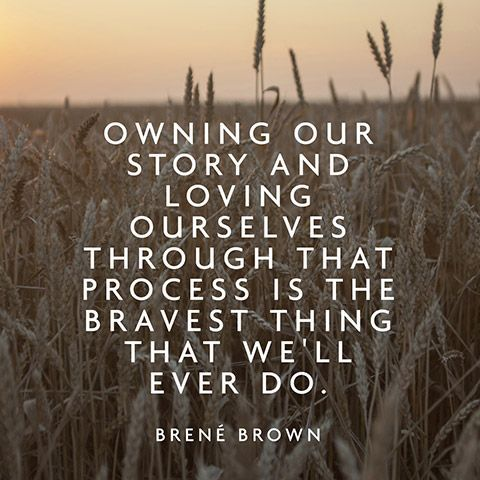 brene brown story quote