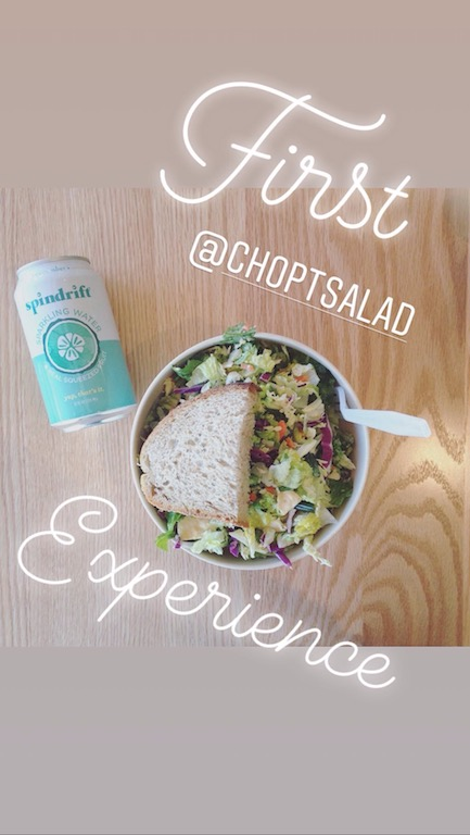 Chopt Salad and Seltzer