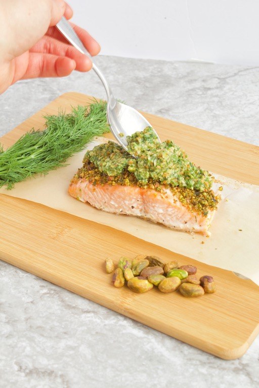 Pistachio Crusted Salmon with Citrus Gremolata