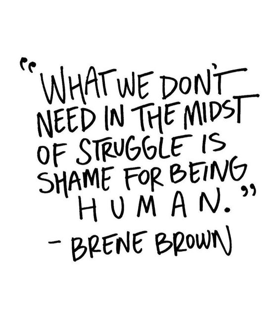 Brene Brown Shame Quote