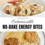 Easy No Bake Energy Bites Collage with Text
