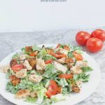 BLT Panzanella Salad Recipe with Text