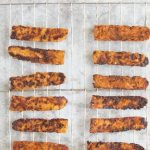 Homemade Tempeh Bacon Recipe with Text