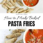 Oven Baked Pasta Chips Collage with text