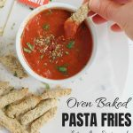 Oven Baked Pasta Chips with Text