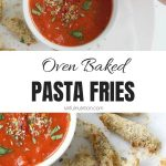 Oven Baked Pasta Chips Collage with Text Overlay