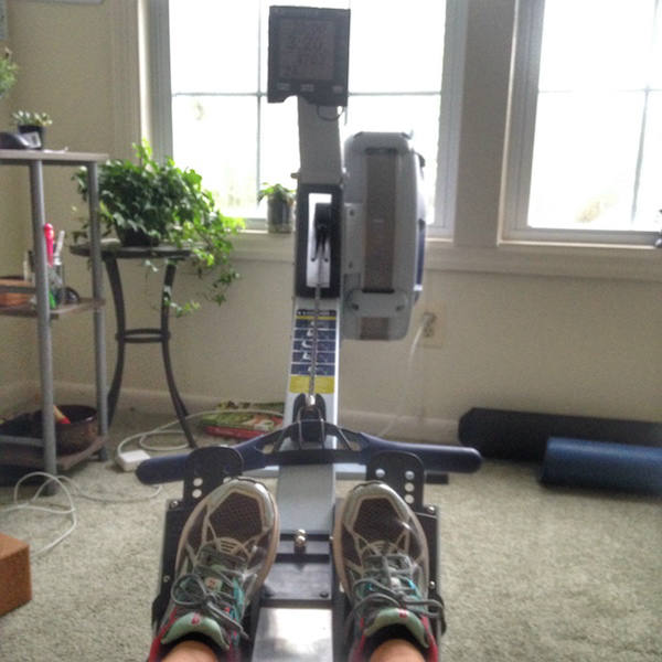 Rower machine sneakers