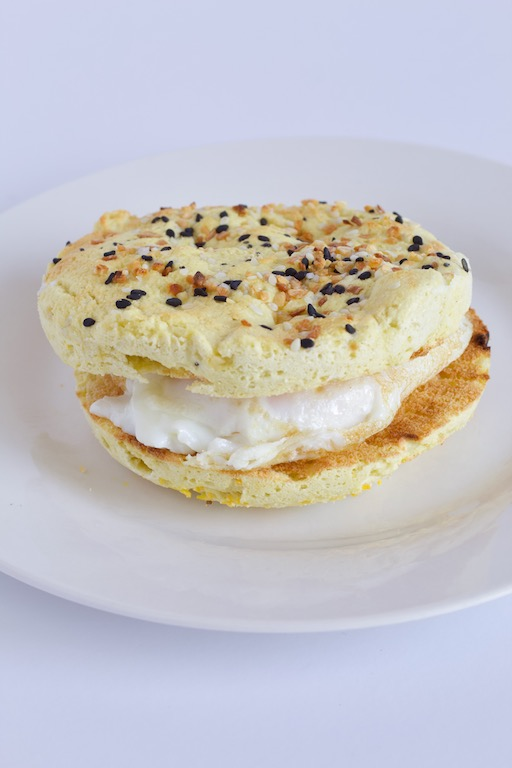 Everything Microwave English Muffin -- A #recipe for everything bagel lovers that takes only minutes and 5 ingredients to make! | #recipe | #bread | #breakfast | #brunch | #vegan | #vegetarian | #paleo | #glutenfree | @sinfulnutrition
