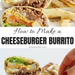 burger burrito collage with text