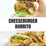 burger burrito collage with text overlay