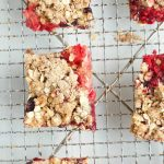 Mixed Berry Oatmeal Bars Recipe overhead