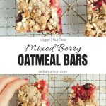 Mixed Berry Oatmeal Bars Recipe collage with text overlay