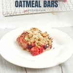 Healthy Mixed Berry Oatmeal Bars Recipe with Text Overlay