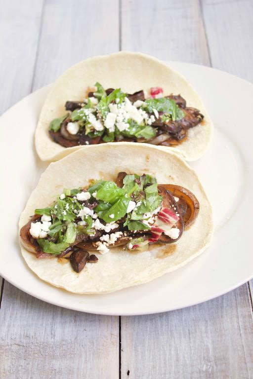Plate of Portobello Mushroom Tacos