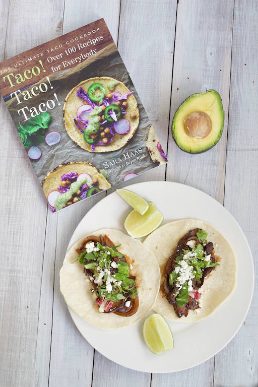 Vegetarian Portobello Mushroom Tacos with Cookbook