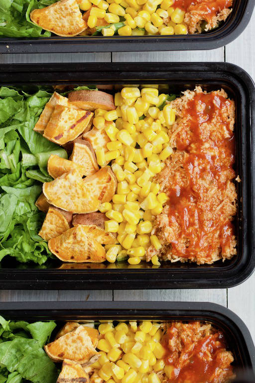 BBQ Chicken Salad Meal Prep Container