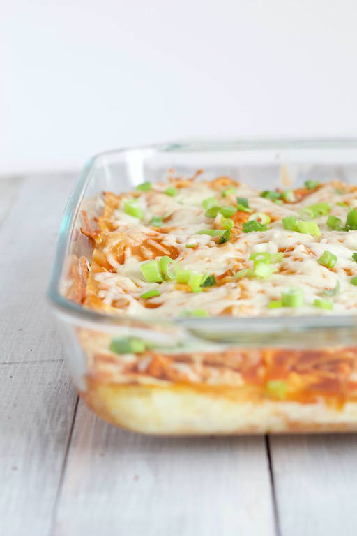 Buffalo Chicken Lasagna in Pan