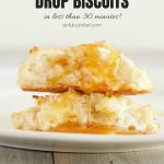 Healthy 3 Ingredient Drop Biscuits with Text Overlay