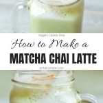 Homemade Matcha Chai Latte Collage with Text Overlay