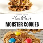 Healthy Monster Cookies Collage with Text