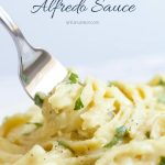 Dairy Free Alfredo Sauce Recipe with Text