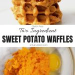 Two Ingredient Sweet Potato Waffles Collage with Text Overlay