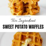 Two Ingredient Sweet Potato Waffles Collage with Text