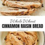 Homemade Cinnamon Raisin Bread Recipe Collage with Text Overlay