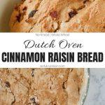 Homemade Cinnamon Raisin Bread Recipe Image Collage with Text Overlay