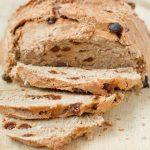 Homemade Cinnamon Raisin Bread Recipe with Text Overlay
