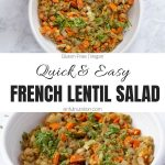 French Lentil Salad Recipe Collage with Text Overlay