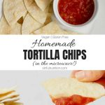 Easy Homemade Tortilla Chips Recipe Collage with Text