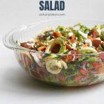 Zucchini Noodle Spaghetti Salad Recipe with Text