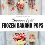 Healthy Frozen Banana Pops Collage with Text Overlay