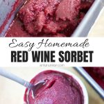 Red Wine Sorbet Photo Collage with Text