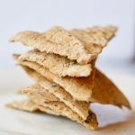 Homemade Pita Chips Stacked on Plate