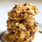 Healthy Pumpkin Chocolate Chip Cookies Stacked