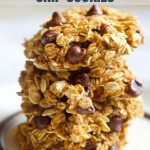 Healthy Pumpkin Chocolate Chip Cookies Photo with Text Overlay