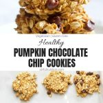 Healthy Pumpkin Chocolate Chip Cookies Collage with Text Overlay