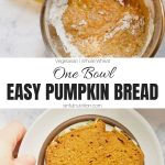 Easy Pumpkin Bread Recipe Collage with Text