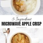 Microwave Apple Crisp Collage with Text Overlay