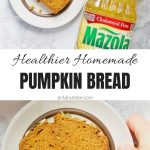 Easy Pumpkin Bread Collage with Text Overlay